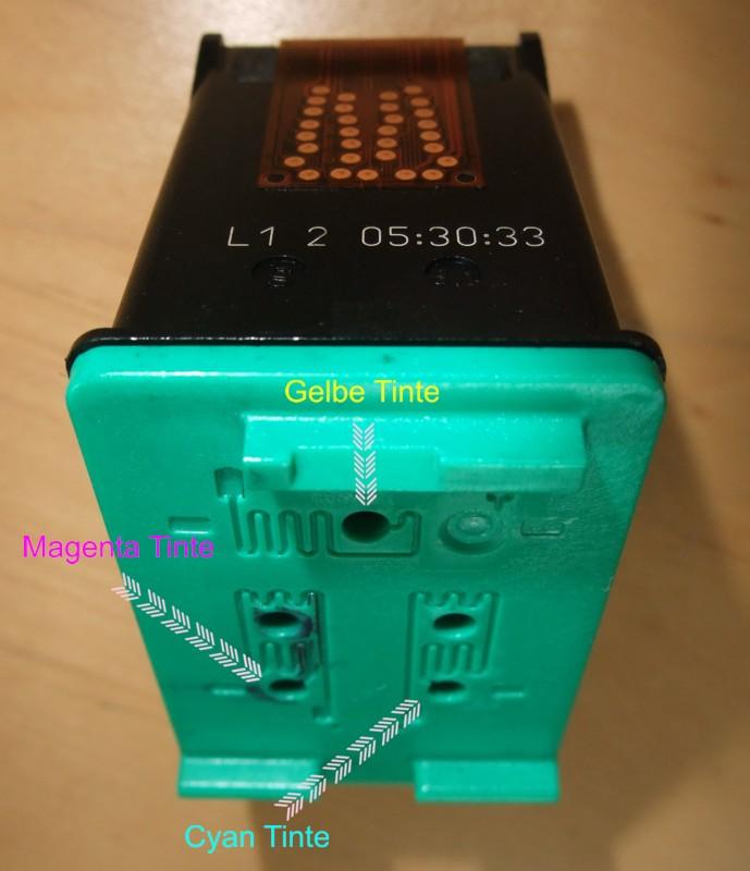 HP Druckerpatrone color nachfüllen