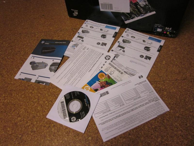 Test HP Photosmart B010A Lieferumfang