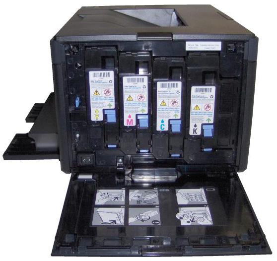 Dell 1250C Toner wechseln austauschen