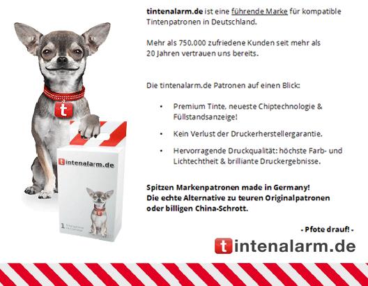 tintenalarm.de Eigenmarke