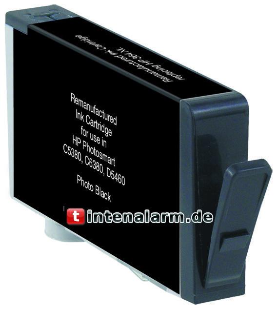 XL Druckerpatrone von tintenalarm.de schwarz (Photo) ersetzt HP 364 XL, CB322EE