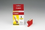Original Canon Ink Cart. BCI-6Y für S-800/i560/865/905/965/950/ 990/9000/9100/9950//iP3000/ 4000/5000/8500//MP750/760/780 yellow (4708A002) BCI-6 Y Tintenpatrone gelb (ca. 210 Seiten)