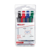 4 Whiteboard-Marker retract 12 von Edding, farbsortiert