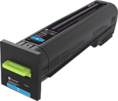 Original Lexmark 72K20C0 Toner cyan return program (ca. 8.000 Seiten)