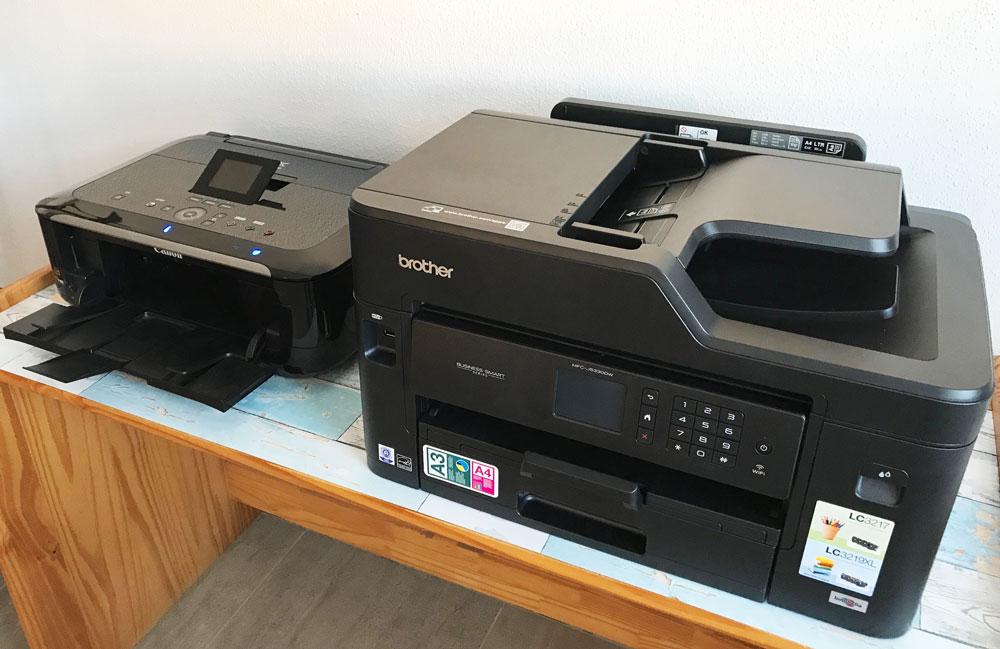 Größe im Vergleich zu Canondrucker