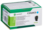 Original Lexmark C2320C0 Toner cyan return program (ca. 1.000 Seiten)