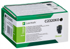 Original Lexmark C2320K0 Toner schwarz return program (ca. 1.000 Seiten)
