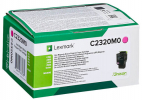Original Lexmark C2320M0 Toner magenta return program (ca. 1.000 Seiten)