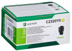 Original Lexmark C2320Y0 Toner gelb return program (ca. 1.000 Seiten)
