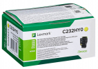 Original Lexmark C232HY0 Toner gelb return program (ca. 2.300 Seiten)