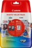 Original Canon PG-540XL CL-541XL Photo Value Pack 5222B013 PG-540 XLCL 541 XL Tintenpatrone Multipack schwarz + color + Fotopapier 10x15cm 50 Blatt