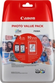 Original Canon PG-545XL CL-546XL Photo Value Pack 8286B006 PG-545 CL 546 Tintenpatrone Multipack schwarz + color + Fotopapier 10x15cm 50 Blatt