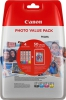 Original Canon CLI-571 Photo Value Pack 0386C006 Tintenpatrone MultiPack Bk,C,M,Y + Fotopapier 10x15cm 50 Blatt