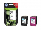 Original HP 301, N9J72AE Tintenpatrone Multipack schwarz + color