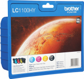 Original Brother LC1100HYVALBPDR LC-1100HY Tintenpatrone MultiPack Bk,C,M,Y Blister