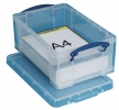 Kunststoffbox von Really Useful Box, 9,0 l, transparent