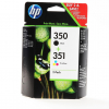 Original HP 350+351, SD412EE Tintenpatrone Multipack schwarz + color