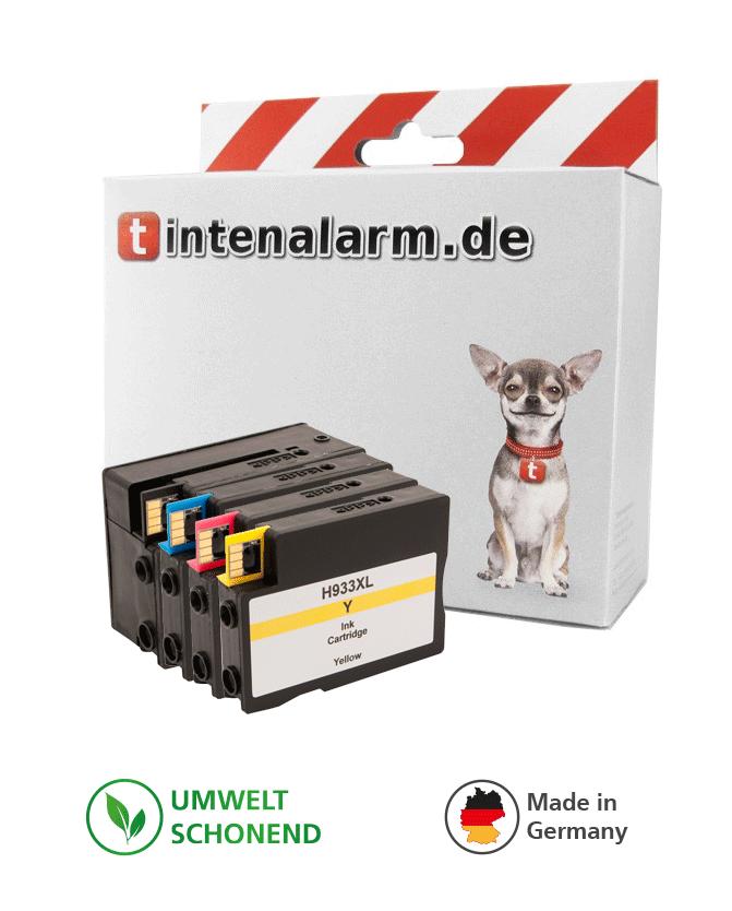 4 XL tintenalarm.de Druckerpatronen ersetzt HP 932XL und 933XL mit Chip