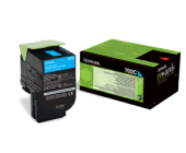 Original Lexmark 702C 70C20C0 Toner cyan return program (ca. 1.000 Seiten)