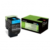 Original Lexmark 802C 80C20C0 Toner cyan return program (ca. 1.000 Seiten)