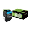 Original Lexmark 80C2HC0 802HC Toner cyan return program (ca. 3.000 Seiten)
