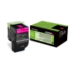Original Lexmark 80C2SM0 802SM Toner magenta return program (ca. 2.000 Seiten)