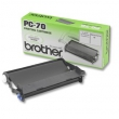 Original Brother PC-70 Thermo-Transfer-Rolle mit Kassette (ca. 140 Seiten)